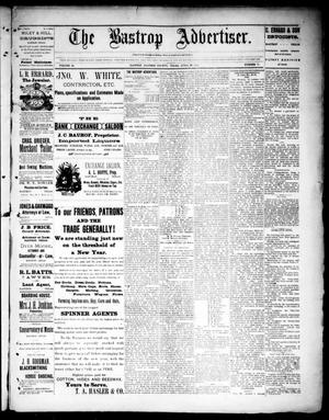 Primary view of object titled 'The Bastrop Advertiser (Bastrop, Tex.), Vol. 34, No. 11, Ed. 1 Saturday, April 23, 1892'.
