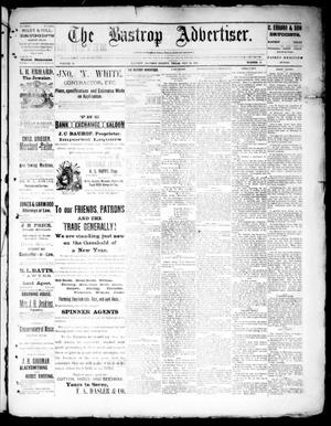 Primary view of object titled 'The Bastrop Advertiser (Bastrop, Tex.), Vol. 34, No. 16, Ed. 1 Saturday, May 28, 1892'.