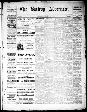 Primary view of object titled 'The Bastrop Advertiser (Bastrop, Tex.), Vol. 34, No. 18, Ed. 1 Saturday, June 11, 1892'.