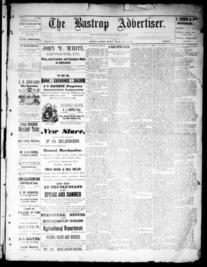 Primary view of object titled 'The Bastrop Advertiser (Bastrop, Tex.), Vol. 34, No. 24, Ed. 1 Saturday, July 23, 1892'.
