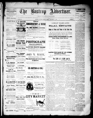 Primary view of object titled 'The Bastrop Advertiser (Bastrop, Tex.), Vol. 34, No. 32, Ed. 1 Saturday, September 17, 1892'.