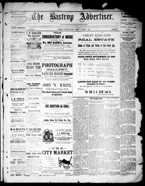 Primary view of object titled 'The Bastrop Advertiser (Bastrop, Tex.), Vol. 34, No. 35, Ed. 1 Saturday, October 1, 1892'.