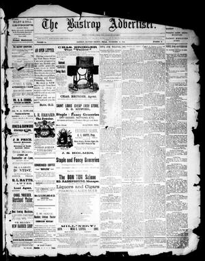 Primary view of object titled 'The Bastrop Advertiser (Bastrop, Tex.), Vol. 34, No. 42, Ed. 1 Saturday, November 19, 1892'.