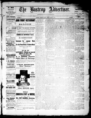 Primary view of object titled 'The Bastrop Advertiser (Bastrop, Tex.), Vol. 35, No. 7, Ed. 1 Saturday, March 25, 1893'.