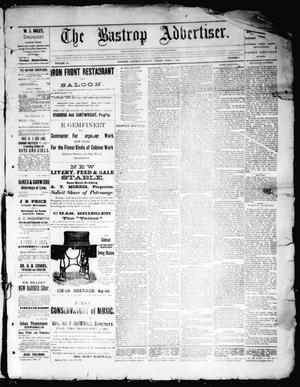 Primary view of object titled 'The Bastrop Advertiser (Bastrop, Tex.), Vol. 35, No. 8, Ed. 1 Saturday, April 1, 1893'.
