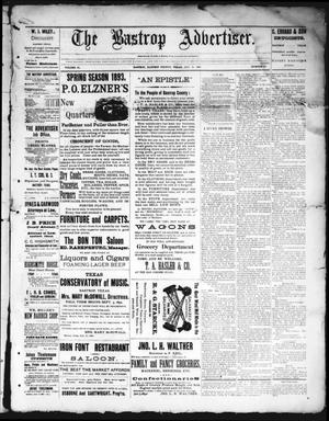 Primary view of object titled 'The Bastrop Advertiser (Bastrop, Tex.), Vol. 35, No. 26, Ed. 1 Saturday, August 5, 1893'.