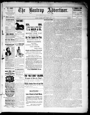 Primary view of object titled 'The Bastrop Advertiser (Bastrop, Tex.), Vol. 36, No. 8, Ed. 1 Saturday, March 31, 1894'.