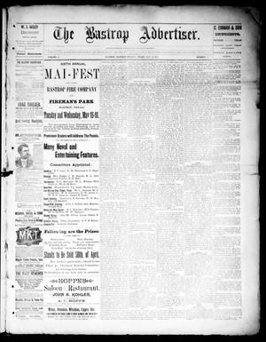 Primary view of object titled 'The Bastrop Advertiser (Bastrop, Tex.), Vol. 36, No. 14, Ed. 1 Saturday, May 12, 1894'.
