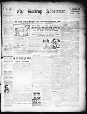 Primary view of object titled 'The Bastrop Advertiser (Bastrop, Tex.), Vol. 38, No. 35, Ed. 1 Saturday, October 13, 1894'.