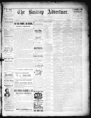 Primary view of object titled 'The Bastrop Advertiser (Bastrop, Tex.), Vol. 38, No. 38, Ed. 1 Saturday, November 3, 1894'.