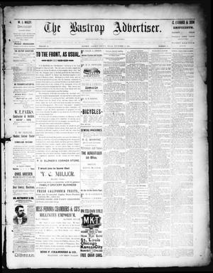 Primary view of object titled 'The Bastrop Advertiser (Bastrop, Tex.), Vol. 38, No. 40, Ed. 1 Saturday, November 17, 1894'.