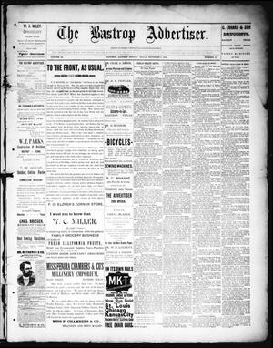 Primary view of object titled 'The Bastrop Advertiser (Bastrop, Tex.), Vol. 38, No. 45, Ed. 1 Saturday, December 8, 1894'.