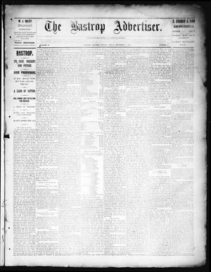 Primary view of object titled 'The Bastrop Advertiser (Bastrop, Tex.), Vol. 38, No. 48, Ed. 1 Saturday, December 15, 1894'.