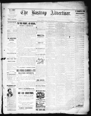 Primary view of object titled 'The Bastrop Advertiser (Bastrop, Tex.), Vol. 38, No. 49, Ed. 1 Saturday, December 22, 1894'.