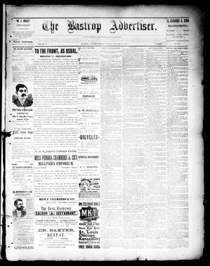 Primary view of object titled 'The Bastrop Advertiser (Bastrop, Tex.), Vol. 39, No. 4, Ed. 1 Saturday, January 26, 1895'.