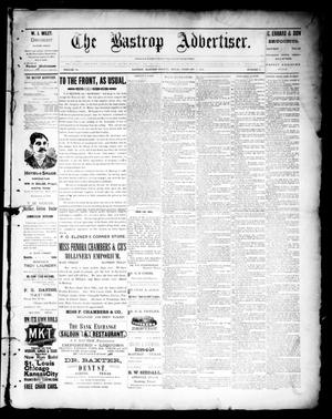 Primary view of object titled 'The Bastrop Advertiser (Bastrop, Tex.), Vol. 39, No. 5, Ed. 1 Saturday, February 2, 1895'.