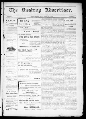 Primary view of object titled 'The Bastrop Advertiser (Bastrop, Tex.), Vol. 44, No. 20, Ed. 1 Saturday, May 16, 1896'.