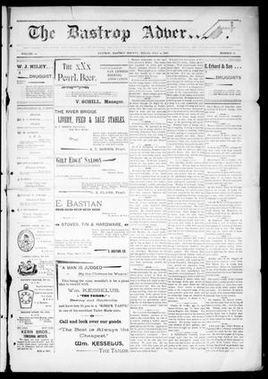 Primary view of object titled 'The Bastrop Advertiser (Bastrop, Tex.), Vol. 44, No. 27, Ed. 1 Saturday, July 4, 1896'.
