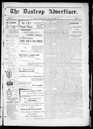 Primary view of The Bastrop Advertiser (Bastrop, Tex.), Vol. 44, No. 49, Ed. 1 Saturday, December 5, 1896