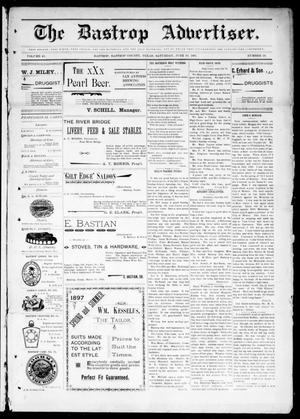 Primary view of object titled 'The Bastrop Advertiser (Bastrop, Tex.), Vol. 45, No. 16, Ed. 1 Saturday, June 19, 1897'.