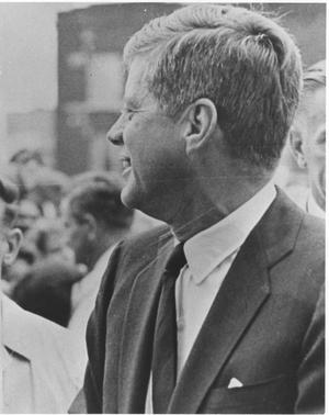 Primary view of object titled 'President Kennedy in Fort Worth'.