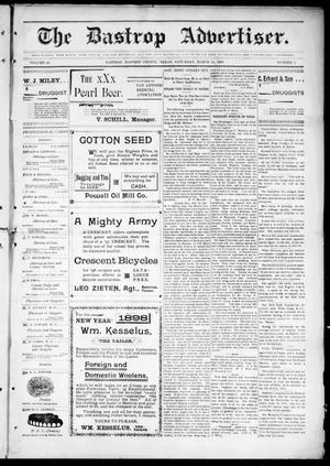 Primary view of object titled 'The Bastrop Advertiser (Bastrop, Tex.), Vol. 46, No. 2, Ed. 1 Saturday, March 12, 1898'.