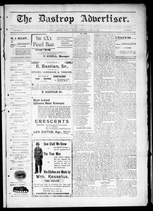 Primary view of object titled 'The Bastrop Advertiser (Bastrop, Tex.), Vol. 46, No. 8, Ed. 1 Saturday, April 23, 1898'.
