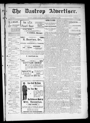 Primary view of object titled 'The Bastrop Advertiser (Bastrop, Tex.), Vol. 46, No. 26, Ed. 1 Saturday, September 17, 1898'.