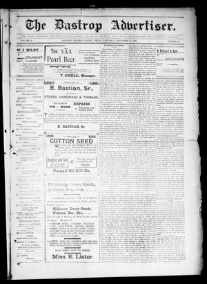 Primary view of object titled 'The Bastrop Advertiser (Bastrop, Tex.), Vol. 46, No. 45, Ed. 1 Saturday, November 19, 1898'.