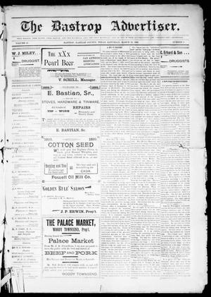 Primary view of object titled 'The Bastrop Advertiser (Bastrop, Tex.), Vol. 47, No. 3, Ed. 1 Saturday, March 18, 1899'.