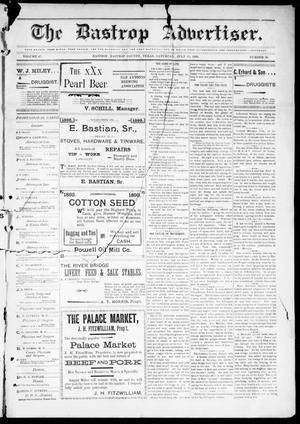 Primary view of object titled 'The Bastrop Advertiser (Bastrop, Tex.), Vol. 47, No. 20, Ed. 1 Saturday, July 15, 1899'.