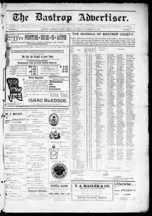 Primary view of object titled 'The Bastrop Advertiser (Bastrop, Tex.), Vol. 47, No. 31, Ed. 1 Saturday, September 30, 1899'.