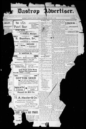 Primary view of object titled 'The Bastrop Advertiser (Bastrop, Tex.), Vol. 48, No. 1, Ed. 1 Saturday, January 6, 1900'.