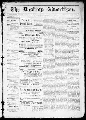 Primary view of object titled 'The Bastrop Advertiser (Bastrop, Tex.), Vol. 48, No. 3, Ed. 1 Saturday, January 20, 1900'.