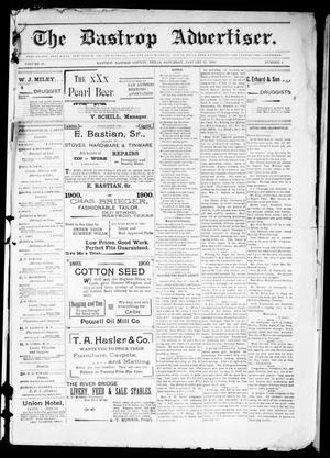 Primary view of object titled 'The Bastrop Advertiser (Bastrop, Tex.), Vol. 48, No. 4, Ed. 1 Saturday, January 27, 1900'.