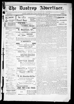 Primary view of object titled 'The Bastrop Advertiser (Bastrop, Tex.), Vol. 48, No. 7, Ed. 1 Saturday, February 17, 1900'.