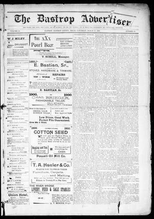 Primary view of object titled 'The Bastrop Advertiser (Bastrop, Tex.), Vol. 48, No. 10, Ed. 1 Saturday, March 10, 1900'.