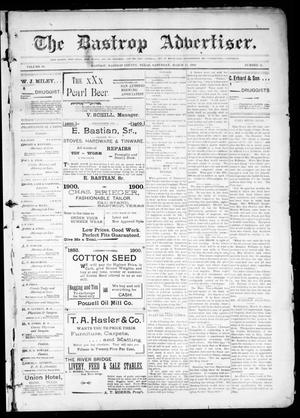 Primary view of object titled 'The Bastrop Advertiser (Bastrop, Tex.), Vol. 48, No. 11, Ed. 1 Saturday, March 17, 1900'.