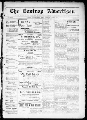 Primary view of object titled 'The Bastrop Advertiser (Bastrop, Tex.), Vol. 48, No. 12, Ed. 1 Saturday, March 24, 1900'.
