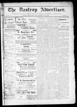 Primary view of object titled 'The Bastrop Advertiser (Bastrop, Tex.), Vol. 48, No. 19, Ed. 1 Saturday, May 12, 1900'.