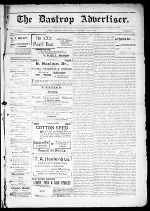 Primary view of object titled 'The Bastrop Advertiser (Bastrop, Tex.), Vol. 48, No. 20, Ed. 1 Saturday, May 19, 1900'.