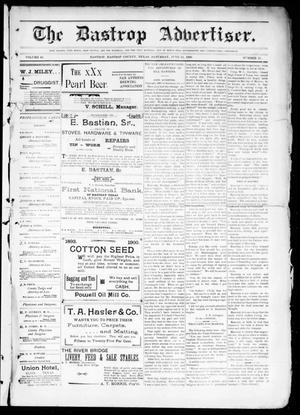 Primary view of object titled 'The Bastrop Advertiser (Bastrop, Tex.), Vol. 48, No. 25, Ed. 1 Saturday, June 23, 1900'.