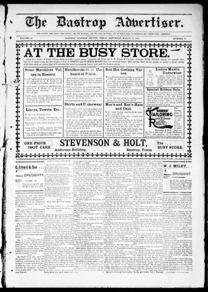 Primary view of object titled 'The Bastrop Advertiser (Bastrop, Tex.), Vol. 48, No. 11, Ed. 1 Saturday, March 23, 1901'.