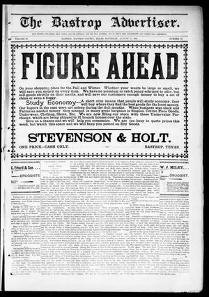 Primary view of object titled 'The Bastrop Advertiser (Bastrop, Tex.), Vol. 48, No. 34, Ed. 1 Saturday, August 31, 1901'.