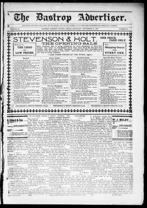 Primary view of object titled 'The Bastrop Advertiser (Bastrop, Tex.), Vol. 48, No. 38, Ed. 1 Saturday, September 28, 1901'.