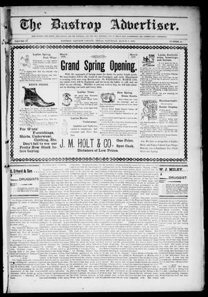Primary view of object titled 'The Bastrop Advertiser (Bastrop, Tex.), Vol. 49, No. 10, Ed. 1 Saturday, March 8, 1902'.