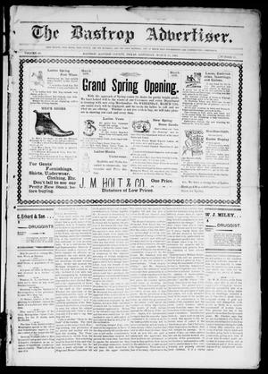 Primary view of object titled 'The Bastrop Advertiser (Bastrop, Tex.), Vol. 49, No. 11, Ed. 1 Saturday, March 15, 1902'.