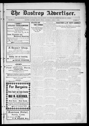 Primary view of object titled 'The Bastrop Advertiser (Bastrop, Tex.), Vol. 54, No. 2, Ed. 1 Saturday, April 7, 1906'.