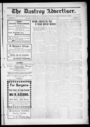 Primary view of object titled 'The Bastrop Advertiser (Bastrop, Tex.), Vol. 54, No. 15, Ed. 1 Saturday, July 7, 1906'.