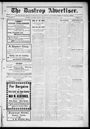 Primary view of object titled 'The Bastrop Advertiser (Bastrop, Tex.), Vol. 54, No. 20, Ed. 1 Saturday, August 11, 1906'.